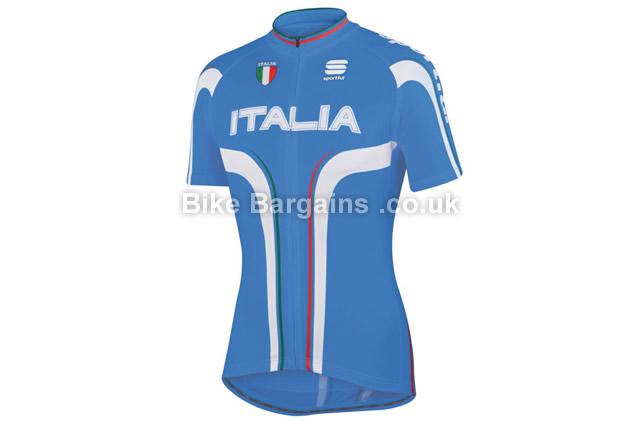 Sportful Italia IT Short Sleeve Cycling Jersey blue, S, M, L, XXL