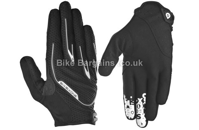 661 Recon MTB Full Finger Gloves 2015 S, Black, Red, White, Full Finger, Nylon, Polyester, Synthetic Leather, Velcro
