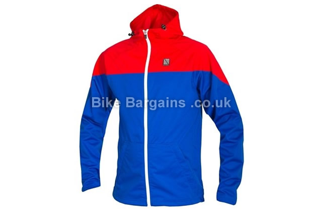 Altura Attack 360 Windproof Softshell Cycling Jacket M, blue, red