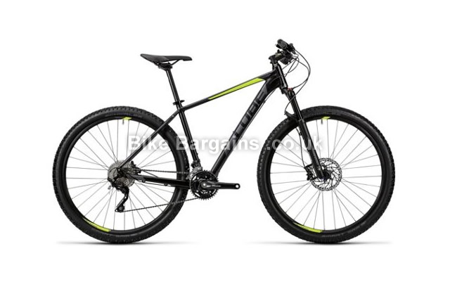 "Cube Acid 29 inch Alloy Hardtail Mountain Bike 2016 17"",19"",21"", grey, black"