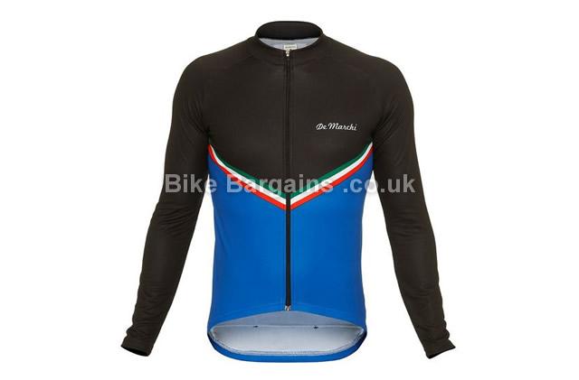 De Marchi Chevron Long Sleeve Cycling Jersey S