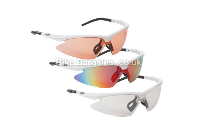 dhb Pro Triple Lens White Cycling Sunglasses white