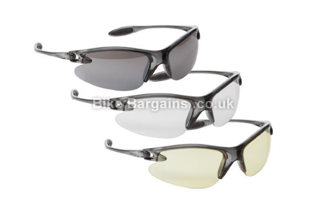 dhb Triple Lens Cycling Sunglasses grey, 3 lenses
