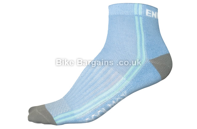 Endura Ladies Coolmax Cycling Socks 3 pack 3 pack, blue