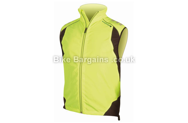 Endura Laser Yellow Cycle Gilet yellow, L