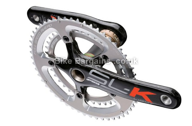 FSA SLK Light Carbon Road Chainset 175mm, Black, Carbon, 11 speed, Double Chainring, Road, 602g