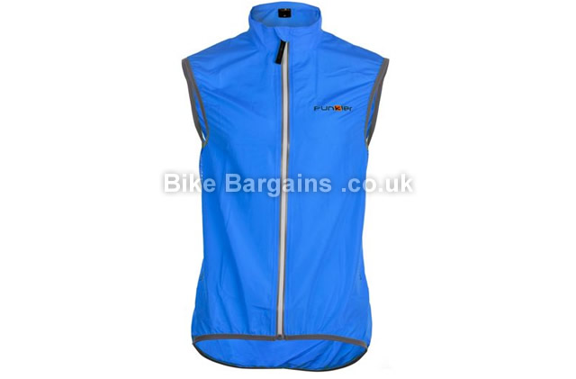 Funkier Windbreaker Cycling Gilet 2016 transparent, XXL