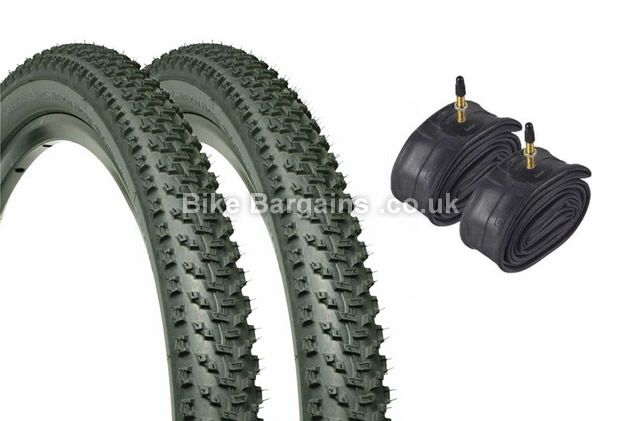 "Geax Saguaro 27.5 inch Pair Tyres With Tubes 27.5"", 2"""