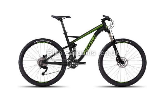 "Ghost Kato FS 3 27.5"" Alloy Full Suspension Mountain Bike 2016 50cm, black"