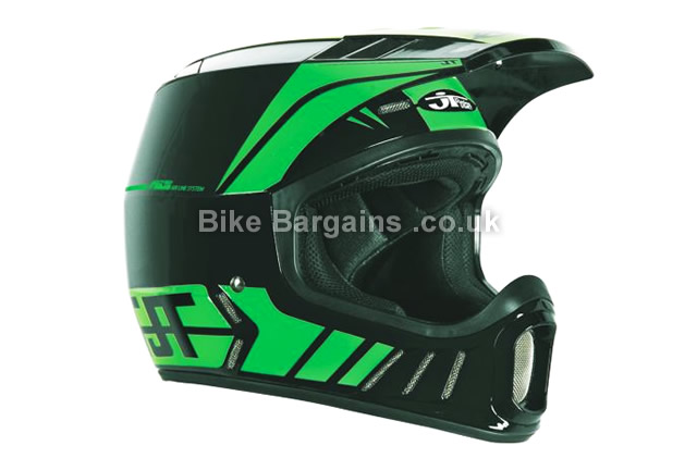 JT Racing ALS2 Full Face Black MTB Helmet Black, XXXL