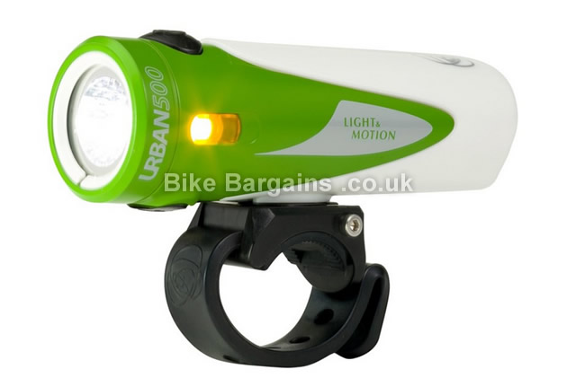 Light and Motion Urban 500 Lumens Front Bike Light 500 Lumens, white, green