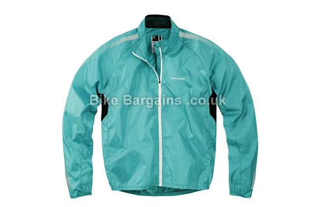Madison Pac-it Showerproof Ladies Jacket 8, Blue, Pink, Women's, Long Sleeve