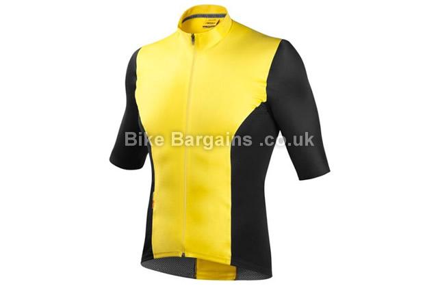 Mavic CXR Ultimate Yellow Black Cycling Jersey 2016 S