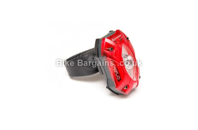 Moon Shield 60 Lumens Rechargeable USB Red Rear Light rear