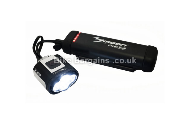 Moon X Power 2500 Lumens Rechargeable Front Light black, 2500 Lumens
