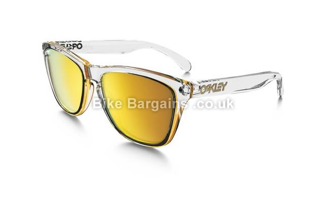 Oakley Frogskins 24k Iridium Lenses Cycle Sunglasses clear
