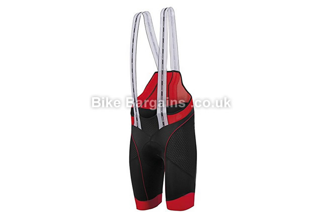 Santini BCool Mig3 Chamois Pad Cycling Bib Shorts S, red