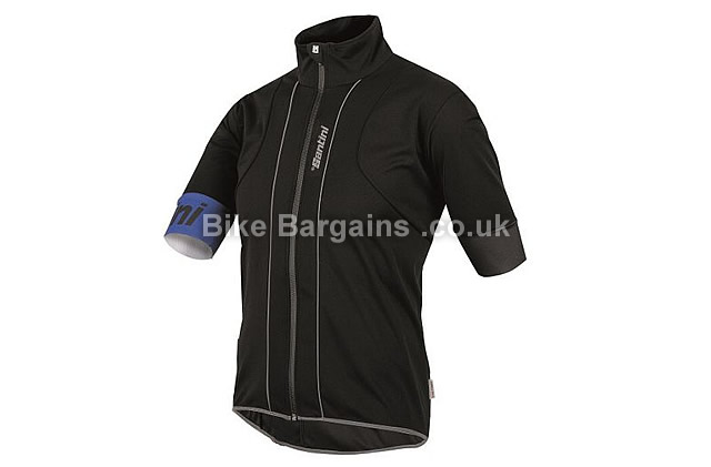 Santini Reef Water and Wind Resistant Cycle Jersey L, black