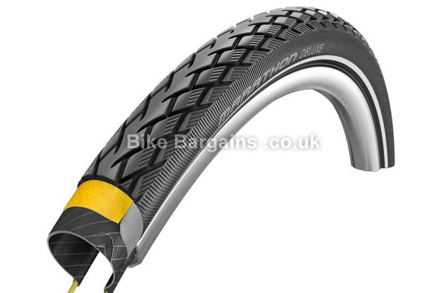 Schwalbe Marathon Deluxe Folding 35c V-Guard Road Tyre 700c, 35c, black
