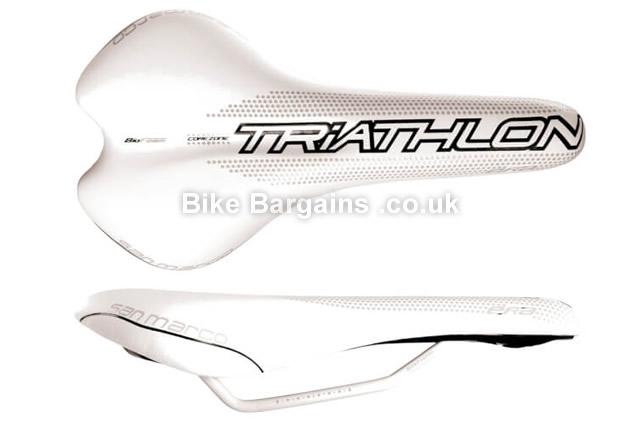 Selle San Marco Era Dynamic Triathlon Manganese Rail Cycling Saddle white