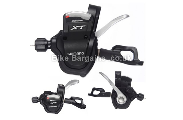 Shimano XT M780 10 Speed Trigger MTB Gear Shifter Set black, front and rear