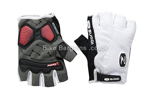 Sugoi Fingerless Bike Gloves white, M