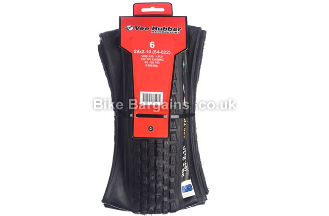 "Vee Rubber Vee6 29 inch Folding MTB Tyre 29"", 2.1"", black"
