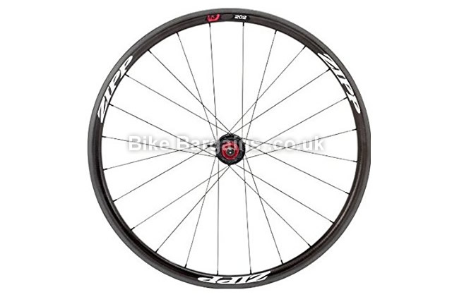 Zipp 202 Firecrest Carbon Clincher 24 Campagnolo Rear Road Wheel black with white decal