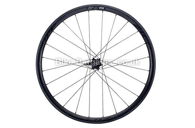 Zipp 202 Tubular Carbon Clincher 24 Campagnolo Rear Road Wheel black with black decal