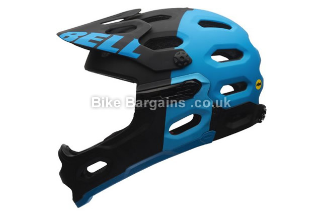 Bell Super 2R MIPS Full Face MTB Helmet 2016 S, blue,  black