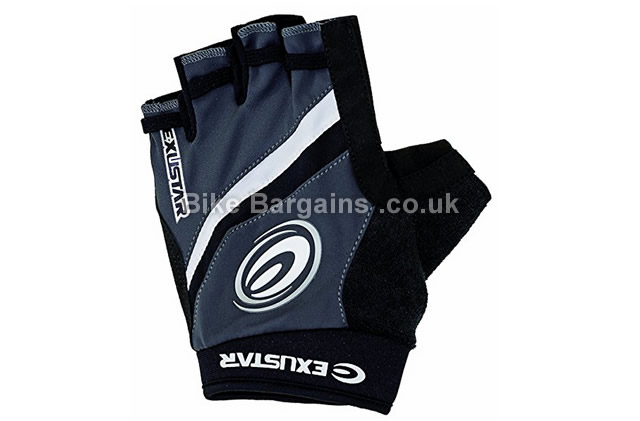 Exustar Half Finger Cycling Gloves L, black, grey