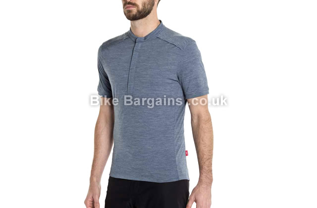 Giro Ride Road Cycling Jersey blue, grey, XL