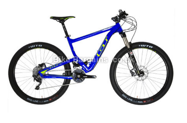 GT Helion Elite Alloy Full Suspension Mountain Bike 2016 M,blue