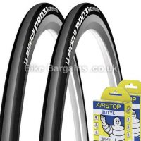 Michelin Pro 3 Race Road Tyres with Tubes