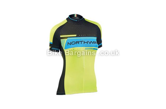 Northwave Ladies Logo 2 Short Sleeve Cycling Jersey M, yellow