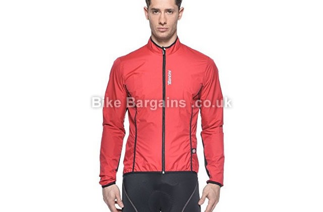 Santini Activent Breathable Windbreaker Jacket XL, red