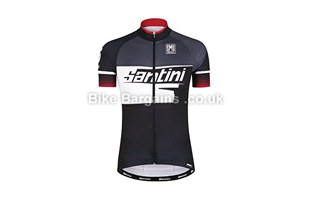 Santini Atom 2 UV Protection Short Sleeve Cycle Jersey black, S