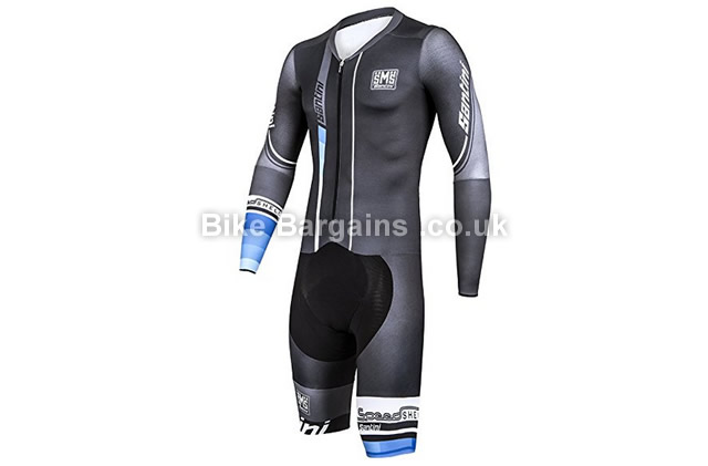 Santini Speed Shell Waterproof Road Cycling Speed Suit black, XL