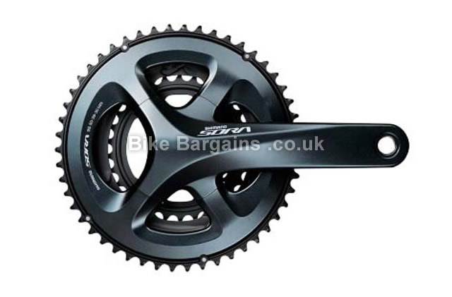 Shimano Sora FC-R3030 170mm 9 speed triple Chainset black, 170mm