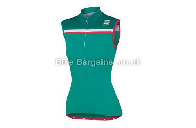 Sportful Ladies Allure Sleeveless Jersey green, black, L