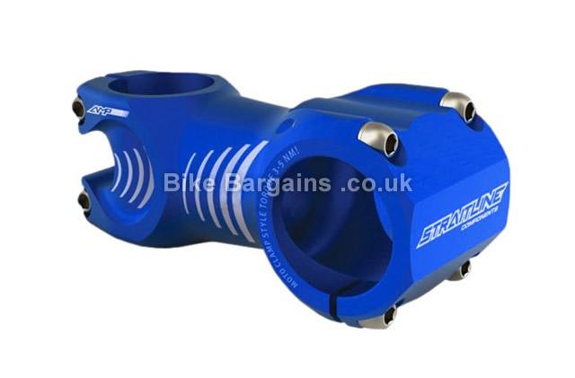 Straitline AMP Alloy Freeride CNC Stem 90mm, blue, orange