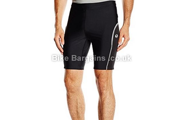 Ultrasport Mens Padded Cycling Shorts black, all sizes