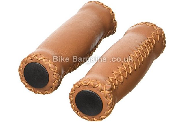 Velo Brown Leather Grips brown, 125mm