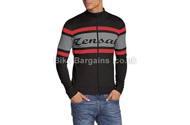 Zensah Classic Italian Retro Wool Casual Cycling Jacket black, red, grey, S