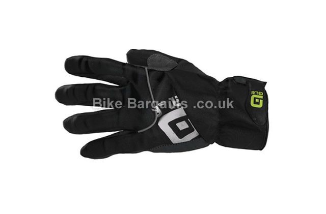 Ale Winter Windproof Waterproof Full Finger Gloves XL, Black, Full Finger, Velcro