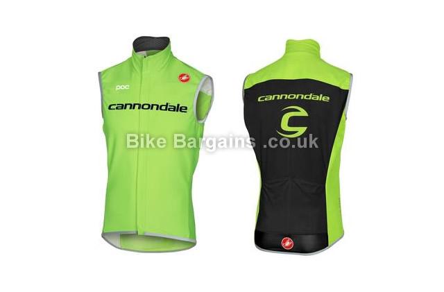 Castelli Cannondale Perfetto Road Vest Gilet 2016 S,M,L,XL,green