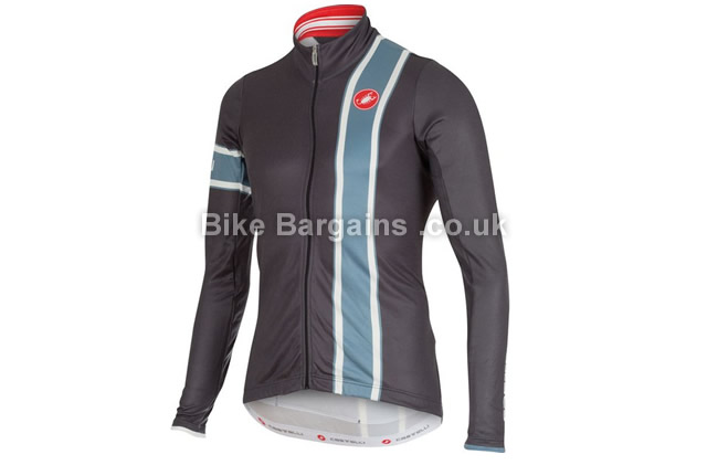 Castelli Storica Long Sleeve Wool Jersey M, grey, blue