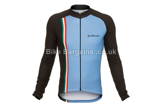 De Marchi Stripe Long Sleeve Cycle Jersey 2016 S,blue, pink, white