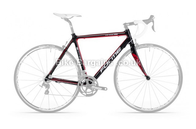 Forme Axe Edge Pro Carbon Caliper Road Frameset 2014 53cm, Black, Red, Carbon, 950g, Caliper Brakes, 700c
