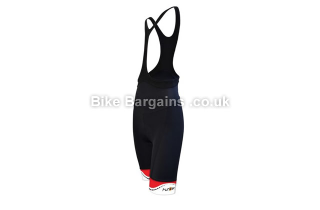 Funkier Ladies Sedona Single Strap Cycling Bib Shorts Black, XS